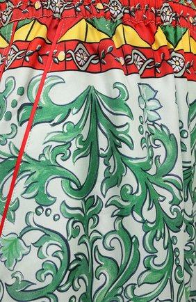 Женские шелковые шорты DOLCE & GABBANA разноцветного цвета, арт. FTAM7T/GDS12 | Фото 5 (Женское Кросс-КТ: Шорты-одежда; Материал внешний: Шелк; Стили: Гламурный; Длина Ж (юбки, платья, шорты): Мини)