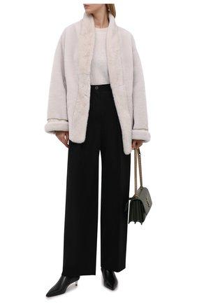 Женская шуба с отделкой из меха норки BLANCHA кремвого цвета, арт. 21095/200/21/LATTE | Фото 2