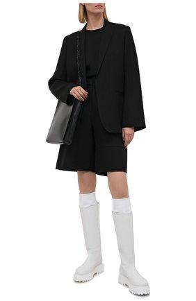 Женские кожаные сапоги stivale ranger LE SILLA белого цвета, арт. 6492T020M1PPCHI   Фото 2