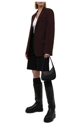 Женские кожаные сапоги stivale ranger LE SILLA черного цвета, арт. 6492T020M1MMCHI   Фото 2