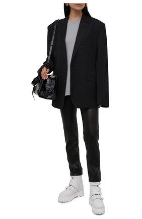 Женские кожаные ботинки ranger LE SILLA белого цвета, арт. 6490P020M2MMCHI   Фото 2