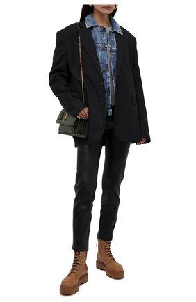 Женские кожаные ботинки ranger LE SILLA светло-коричневого цвета, арт. 6482R020M1PPCHI   Фото 2