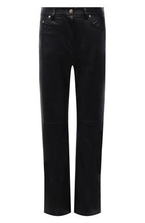 Женские брюки из экокожи NANUSHKA черного цвета, арт. NW20CRPA03599   Фото 1
