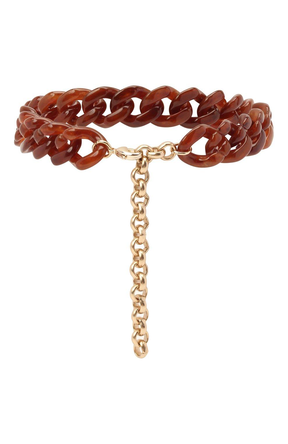 Мужского браслет на ногу GIA COUTURE коричневого цвета, арт. R0SIE-A304 | Фото 2