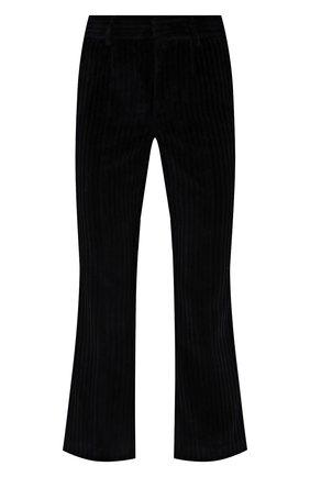 Женские вельветовые брюки REDVALENTINO темно-синего цвета, арт. WR3RBE35/5YD | Фото 1 (Материал внешний: Хлопок; Длина (брюки, джинсы): Стандартные; Силуэт Ж (брюки и джинсы): Расклешенные; Женское Кросс-КТ: Брюки-одежда; Стили: Гламурный)