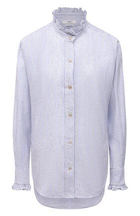 Женская рубашка из хлопка и льна ISABEL MARANT ETOILE голубого цвета, арт. CH0673-21A021E/SA0LI   Фото 1