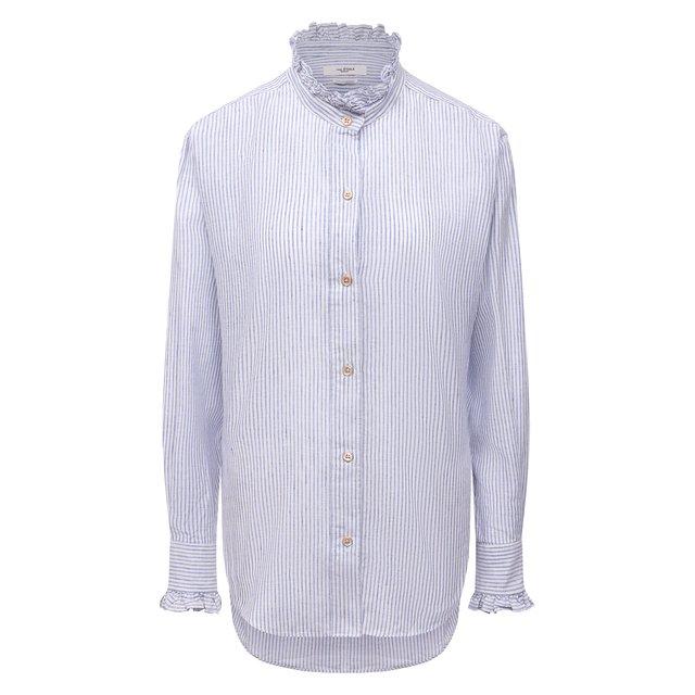 Рубашка из хлопка и льна Isabel Marant Etoile