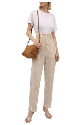 Женские джинсы ISABEL MARANT ETOILE бежевого цвета, арт. PA1949-21A017E/TESS | Фото 2