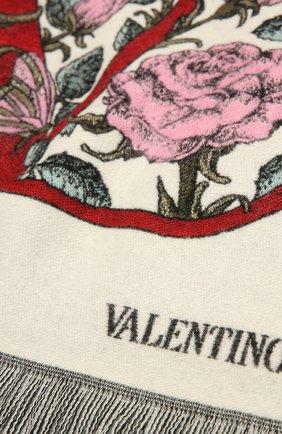 Женский шерстяной шарф VALENTINO кремвого цвета, арт. WW2ER027/FLW | Фото 2