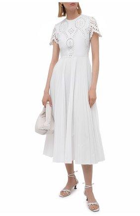 Женское хлопковое платье VALENTINO белого цвета, арт. WB3VAWG06HB   Фото 2