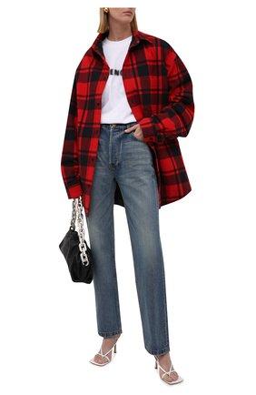 Женские джинсы BALENCIAGA тёмно-голубого цвета, арт. 657646/TDW14 | Фото 2 (Длина (брюки, джинсы): Стандартные; Материал внешний: Хлопок; Силуэт Ж (брюки и джинсы): Прямые; Стили: Спорт-шик; Кросс-КТ: Деним)