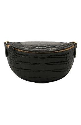 Женская поясная сумка souvenirs xxs BALENCIAGA черного цвета, арт. 565510/1LR4M | Фото 1