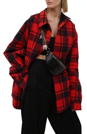 Женская поясная сумка souvenirs xxs BALENCIAGA черного цвета, арт. 565510/1LR4M | Фото 2