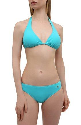 Женский плавки-бикини DOLCE & GABBANA бирюзового цвета, арт. 02A03J/FUGA2 | Фото 2