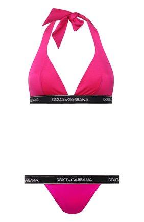 Женский слитный купальник DOLCE & GABBANA фуксия цвета, арт. 08A97J/FUGLG | Фото 1