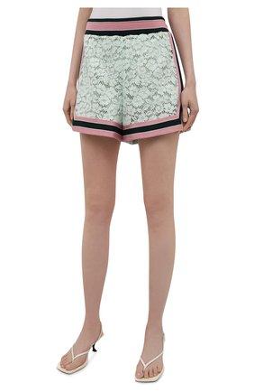 Женские хлопковые шорты DOLCE & GABBANA разноцветного цвета, арт. FTB6CT/FLMY1 | Фото 3 (Женское Кросс-КТ: Шорты-одежда; Длина Ж (юбки, платья, шорты): Мини; Материал внешний: Хлопок; Стили: Спорт-шик; Материал подклада: Шелк)