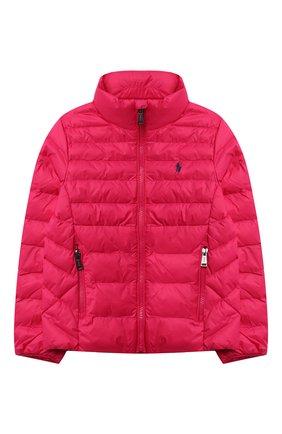 Детского куртка POLO RALPH LAUREN фуксия цвета, арт. 312847233 | Фото 1
