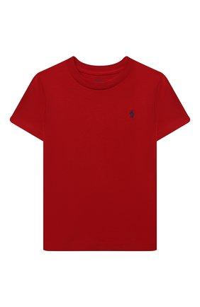 Детская хлопковая футболка POLO RALPH LAUREN красного цвета, арт. 321832904 | Фото 1