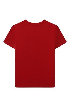 Детская хлопковая футболка POLO RALPH LAUREN красного цвета, арт. 321832904 | Фото 2