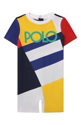 Детский хлопковый комбинезон POLO RALPH LAUREN разноцветного цвета, арт. 320844911 | Фото 1