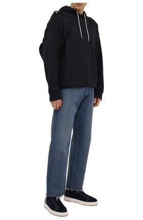 Мужские текстильные кеды SANTONI темно-синего цвета, арт. MBCC21540BARNH0DU60 | Фото 2