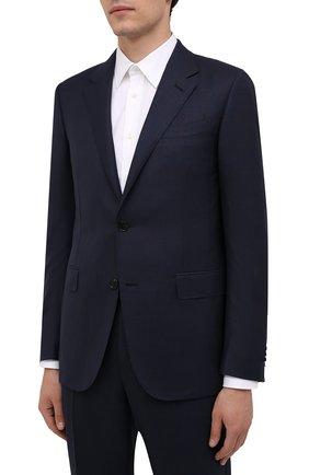 Мужской костюм из шерсти и шелка ERMENEGILDO ZEGNA темно-синего цвета, арт. 216519/221225 | Фото 2