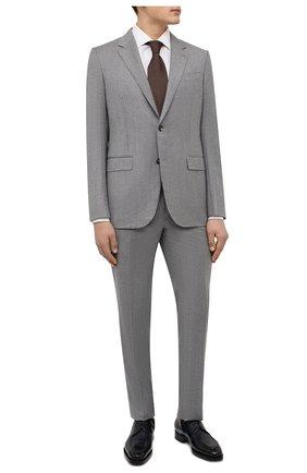 Мужской шерстяной костюм ERMENEGILDO ZEGNA серого цвета, арт. 222554/221225 | Фото 1