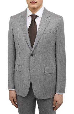 Мужской шерстяной костюм ERMENEGILDO ZEGNA серого цвета, арт. 222554/221225 | Фото 2