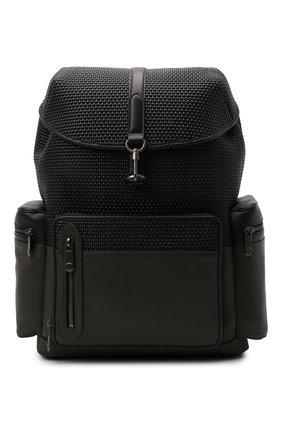 Мужской кожаный рюкзак pelletessuta special ERMENEGILDO ZEGNA серого цвета, арт. C1774P-LHPBD | Фото 1