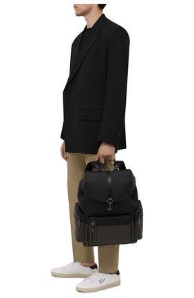 Мужской кожаный рюкзак pelletessuta special ERMENEGILDO ZEGNA серого цвета, арт. C1774P-LHPBD | Фото 2