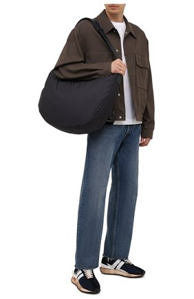Мужская текстильная сумка panorama hobo ERMENEGILDO ZEGNA синего цвета, арт. C1742Y-LHGRT | Фото 2