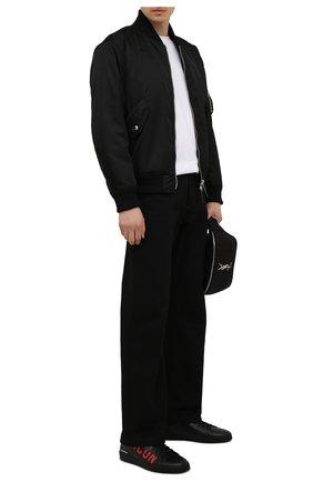 Мужские кожаные кеды DSQUARED2 черного цвета, арт. SNM0188 01500001 | Фото 2