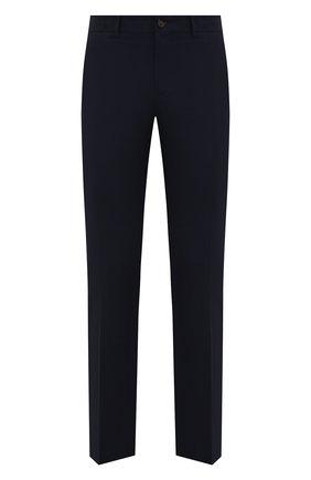 Мужские хлопковые брюки RALPH LAUREN темно-синего цвета, арт. 790588859   Фото 1 (Материал внешний: Хлопок; Длина (брюки, джинсы): Стандартные; Случай: Повседневный)