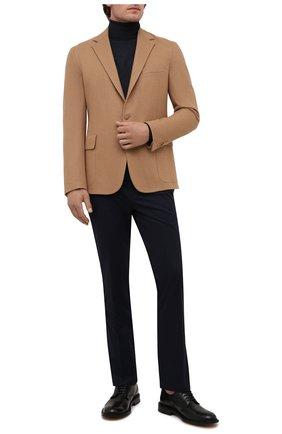 Мужские хлопковые брюки RALPH LAUREN темно-синего цвета, арт. 790588859   Фото 2 (Материал внешний: Хлопок; Длина (брюки, джинсы): Стандартные; Случай: Повседневный)