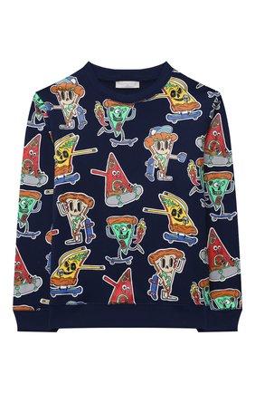 Детского комплект из свитшота и шорт STELLA MCCARTNEY темно-синего цвета, арт. 603378/SQJ47 | Фото 2