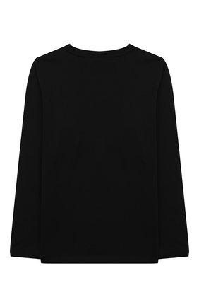 Детская хлопковый лонгслив STELLA MCCARTNEY черного цвета, арт. 603086/SQJ92 | Фото 2