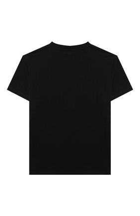Детская хлопковая футболка STELLA MCCARTNEY черного цвета, арт. 602253/SQJ87 | Фото 2