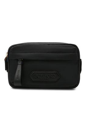 Мужская текстильная поясная сумка TOM FORD черного цвета, арт. H0466T-TNY005 | Фото 1 (Ремень/цепочка: На ремешке; Материал: Текстиль)
