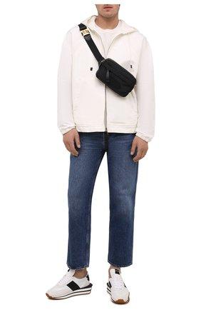 Мужская текстильная поясная сумка TOM FORD черного цвета, арт. H0466T-TNY005   Фото 2