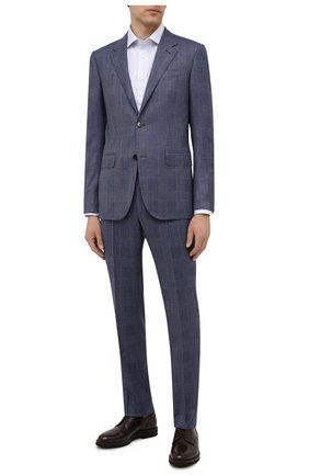 Мужская хлопковая сорочка BRIONI светло-голубого цвета, арт. RCA10M/0906Z   Фото 2
