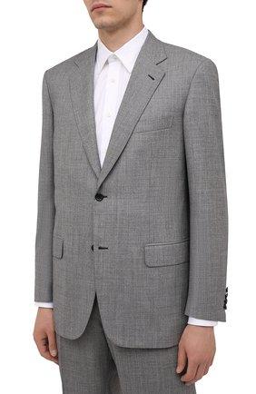 Мужской шерстяной костюм BRIONI серого цвета, арт. RAH04K/01A3N/PARLAMENT0 | Фото 2