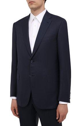 Мужской шерстяной костюм BRIONI темно-синего цвета, арт. RA0J1L/01A4D/BRUNIC0 | Фото 2