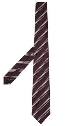Мужской шелковый галстук BRIONI бордового цвета, арт. 062I00/01417   Фото 2