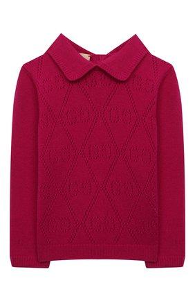 Детский шерстяной пуловер GUCCI фуксия цвета, арт. 642766/XKBXP | Фото 1
