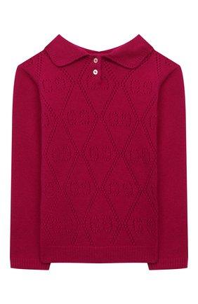 Детский шерстяной пуловер GUCCI фуксия цвета, арт. 642766/XKBXP | Фото 2