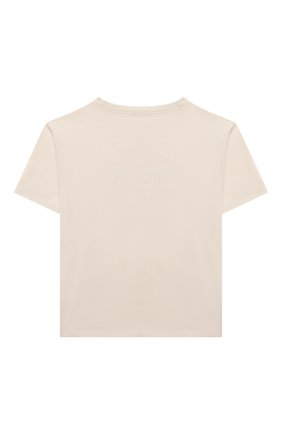 Детская хлопковая футболка GUCCI кремвого цвета, арт. 575114/XJDK0 | Фото 2
