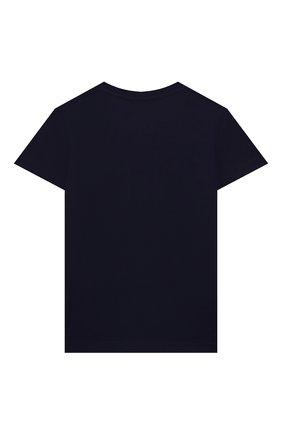 Детская хлопковая футболка GUCCI синего цвета, арт. 561651/XJDKV | Фото 2