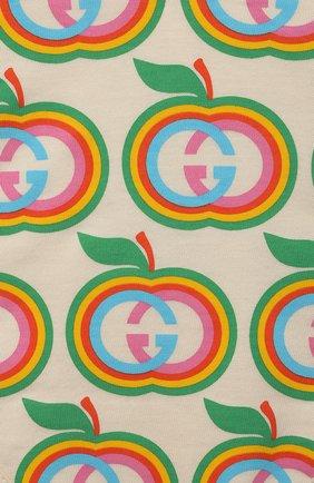 Детского комплект из трех предметов GUCCI кремвого цвета, арт. 663519/XJDNR   Фото 9 (Ростовка одежда: 0 - 3 мес   50 - 60 см, 3 мес   62 см, 9 мес   74 см)