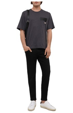 Мужская хлопковая футболка DOLCE & GABBANA темно-серого цвета, арт. G8NC5Z/G7A2H | Фото 2