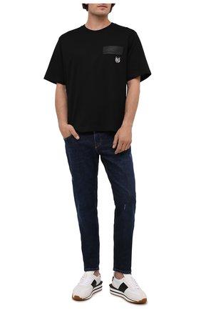 Мужская хлопковая футболка DOLCE & GABBANA черного цвета, арт. G8NC5Z/G7A2H | Фото 2